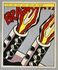 """Roy Lichtenstein - Triptych """"As I Opened Fire"""""""