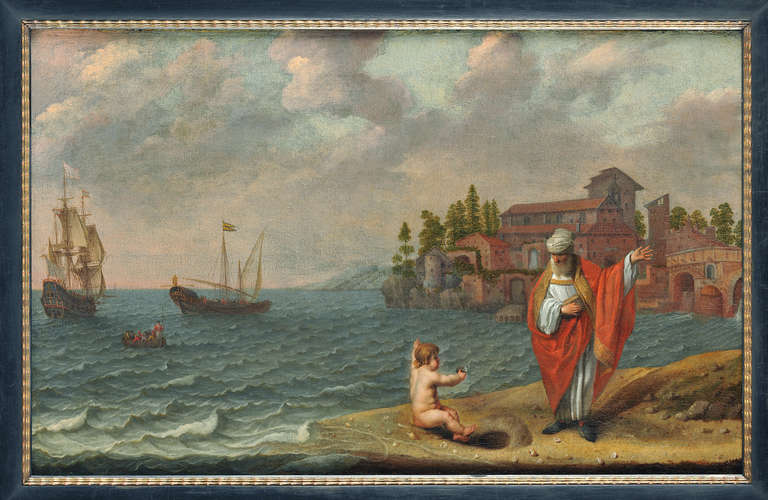 Abraham Willaerts Saint Augustine And The Child Painting At 1stdibs