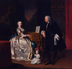 A portrait of the Hageman family in an interior