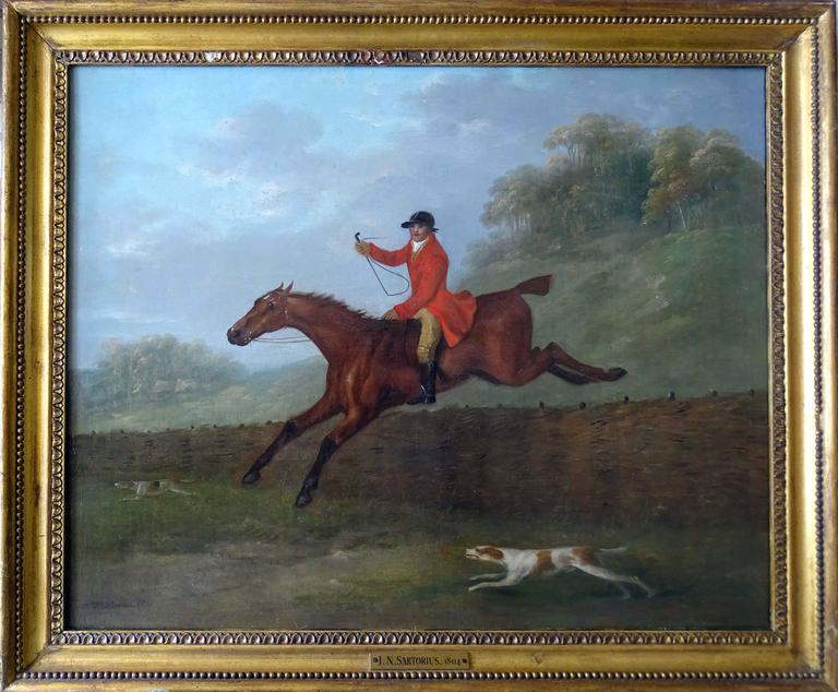 A set of four hunting scenes - Painting by John Nott Sartorius SNR