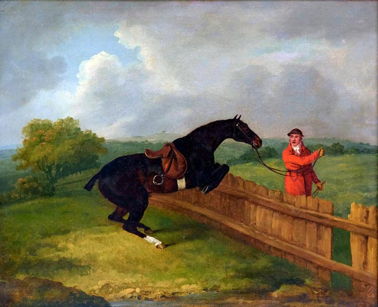 A pair of hunting scenes - Painting by Francis Sartorius