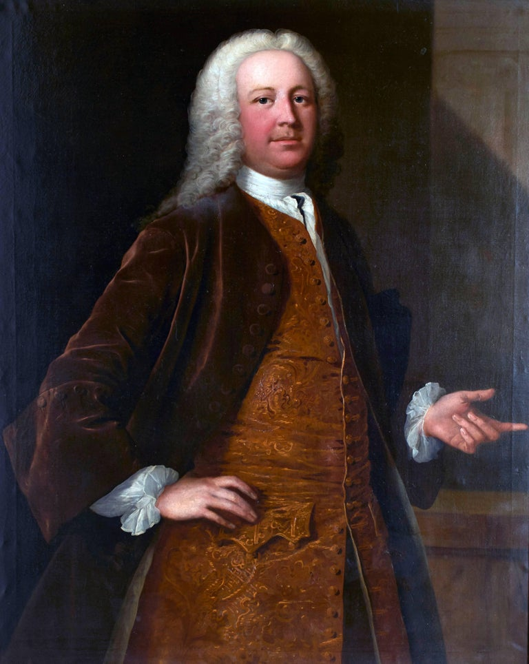 FRYE, Thomas (1710-1762). Portrait Painting - A portrait of a gentleman