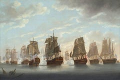 A Pair of Marine Paintings - Views of The Battle of the Saints