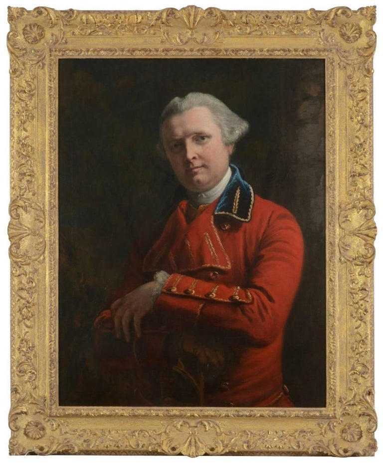 Portrait of Dr John Gregory in a red coat