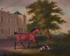 John Ferneley Senior (1782-1806), A Horse and dog in a landscape, Ireland