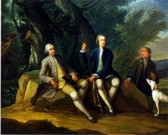 Joseph van Aken - A portrait of 18th century gentleman after shooting
