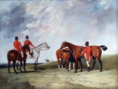 Abraham Cooper - The Meet - A hunting party on horseback