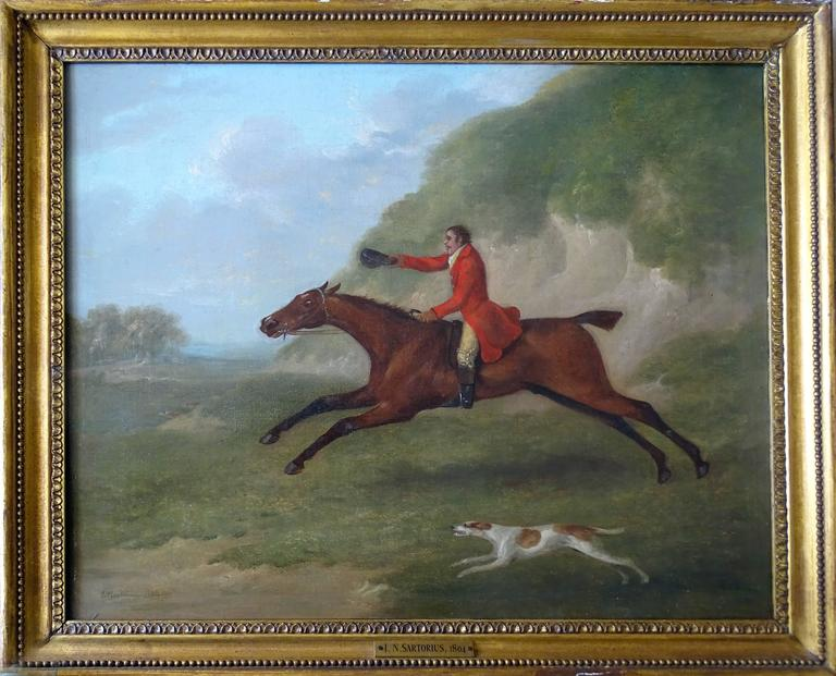 A set of four hunting scenes - Gray Animal Painting by John Nott Sartorius SNR