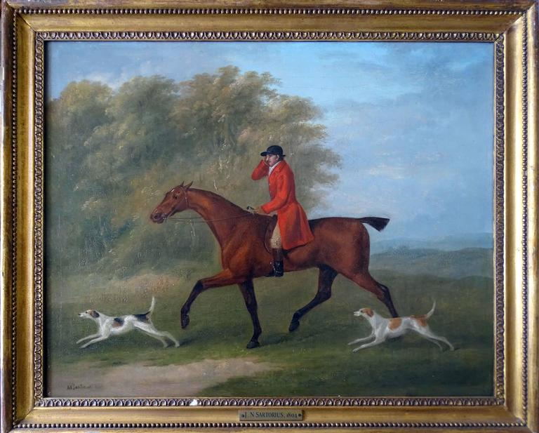 A set of four hunting scenes