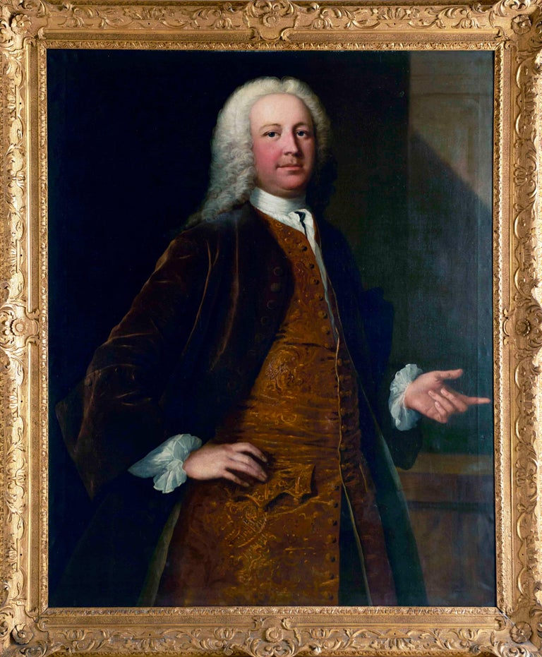 A portrait of a gentleman - Painting by FRYE, Thomas (1710-1762).