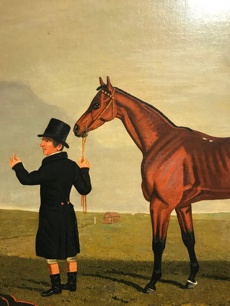The Race horse 'Archibald' in a landscape by Lambert Marshall For Sale 3