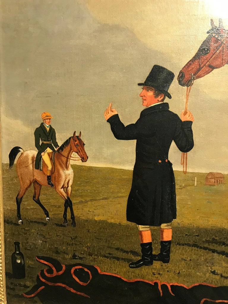 The Race horse 'Archibald' in a landscape by Lambert Marshall For Sale 4