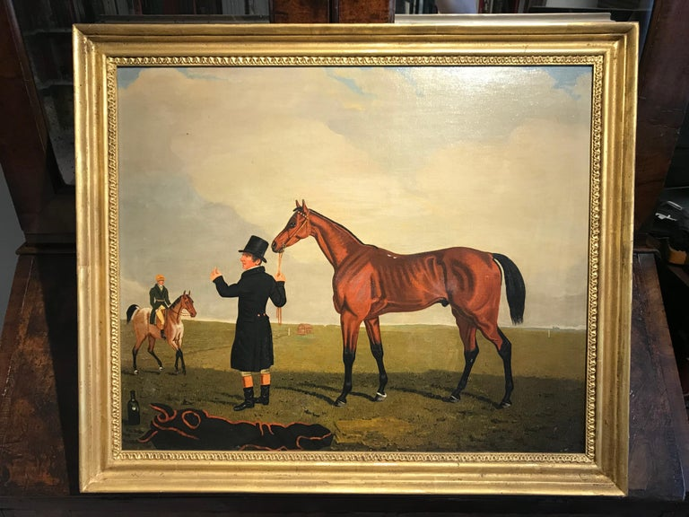 The Race horse 'Archibald' in a landscape by Lambert Marshall For Sale 1