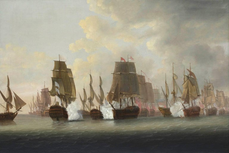 A Pair of Marine Paintings - Views of The Battle of the Saints  For Sale 1