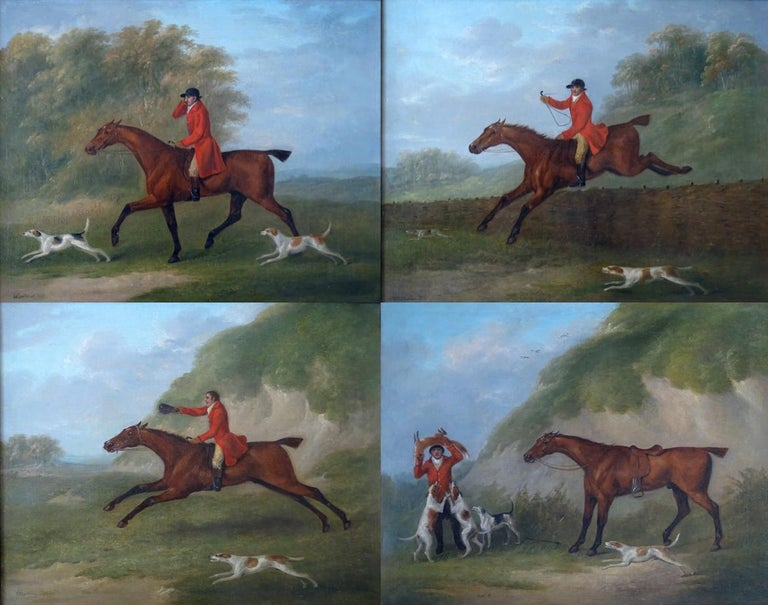 A set of four hunting scenes - By John Nost Sartorius