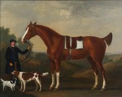 "Captain Bertie's ""Sportsman""  his Bay Hunter by Francis Sartorius"