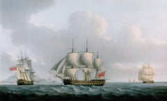 An English ship sailing off Cape Town, South Africa by William Anderson