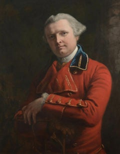 Portrait of Dr John Gregory in a red coat by Francis Cotes