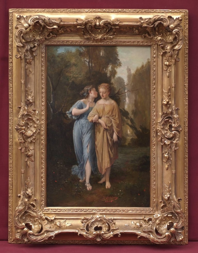 Timoleon Marie Lobrichon Portrait Painting - Painting 19th century French Academic Old Master