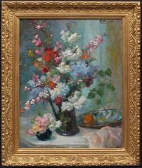Painting French Impressionist Flowers Still Life