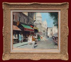 Painting 20th Century Post Impressionist Paris Montmartre