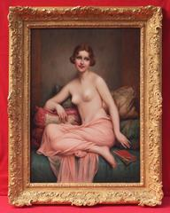 French Painting Art Deco Nude Woman