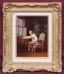 Reading On The Desk In 18th Century
