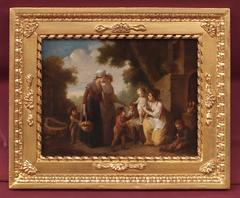 Painting 18th Century Characters Children Daily Scene