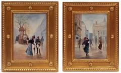 Paintings 19th Century Paris Belle Epoque Street Views Characters Genre Scene