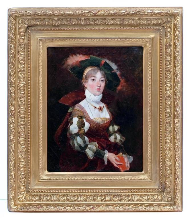 Jose Miralles Darmanin - Painting 19th Century Portrait Renaissance   1