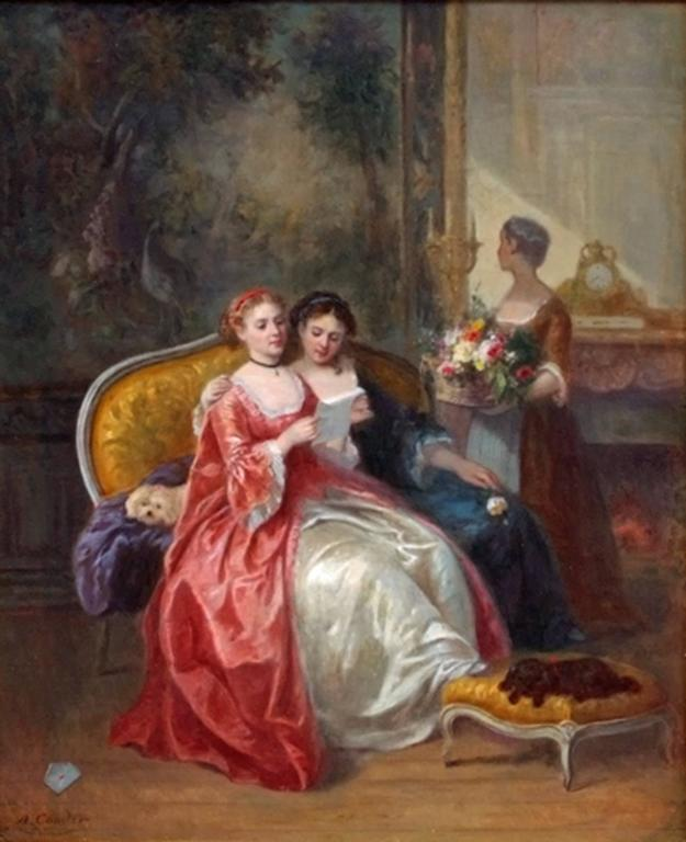 19th Century Painting  Interior and Genre Scene   4