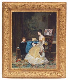 Painting 19th Century Childhood Interior Portraits