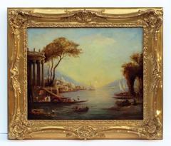 Painting 19th Century Marine ruins old master