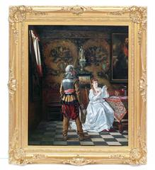 Painting 19th Century Interior and costumes Renaissance
