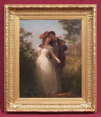 Painting 19th Century Romantic Portrait
