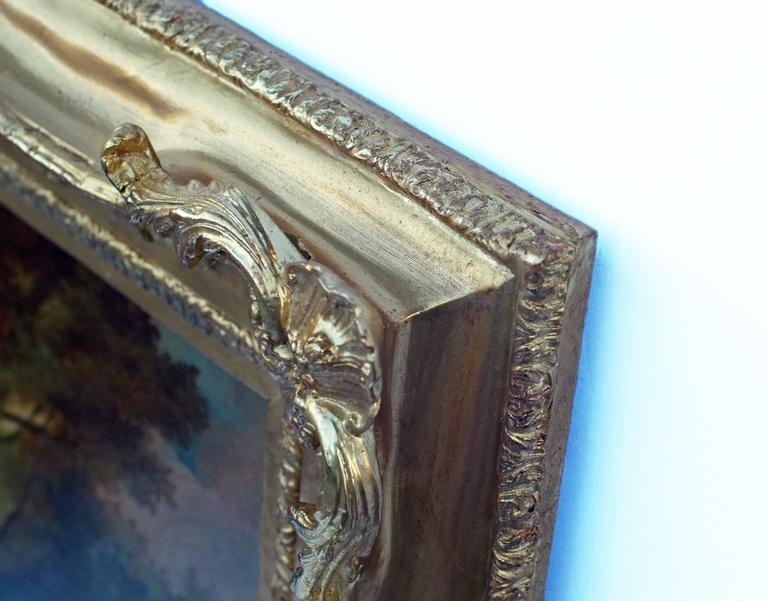 Painting 19th Century Romantic Courtiers Genre Scene   For Sale 2