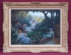 The Swing - Romantic Scene in the Garden