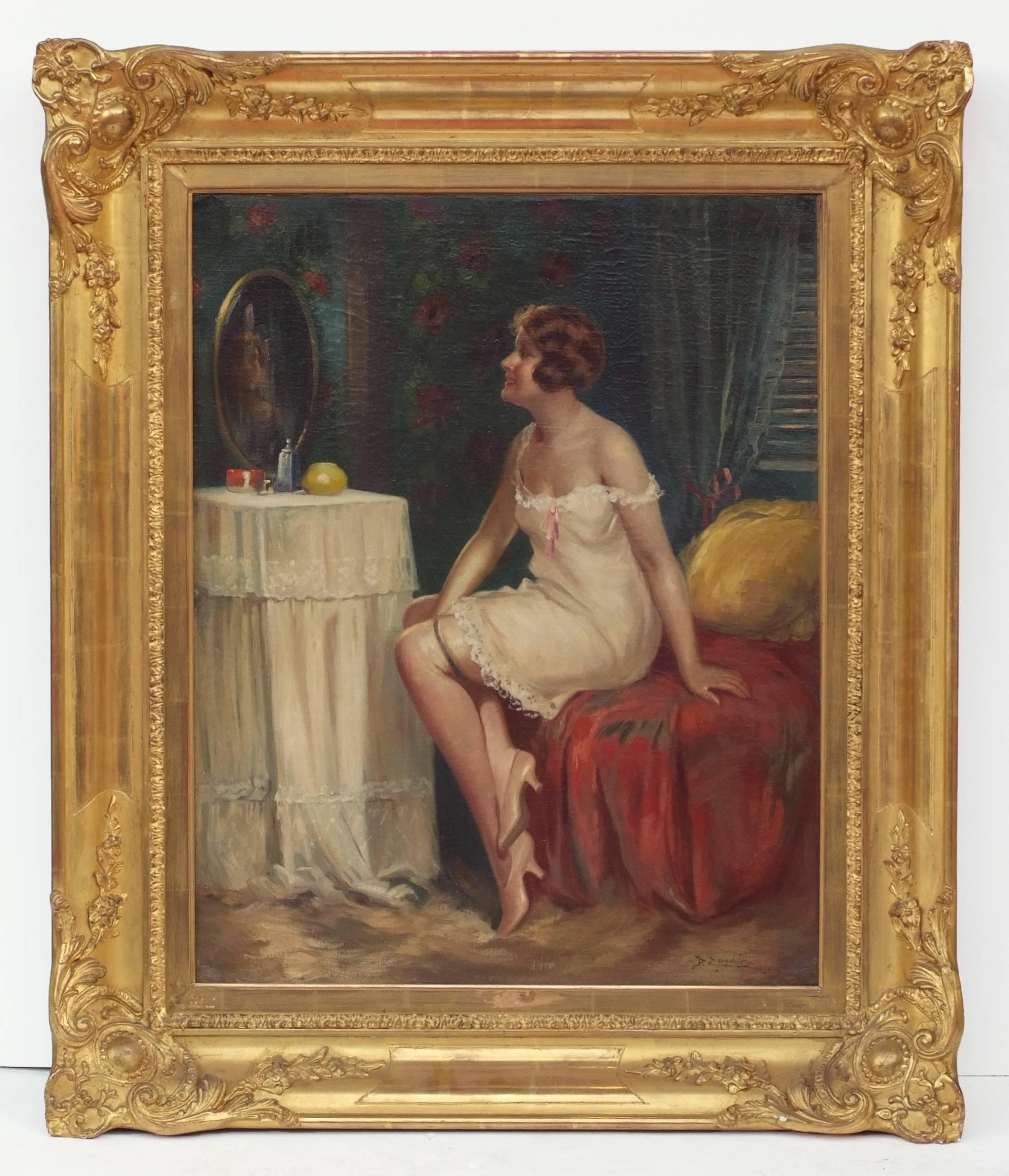 Lady at Dressing Table