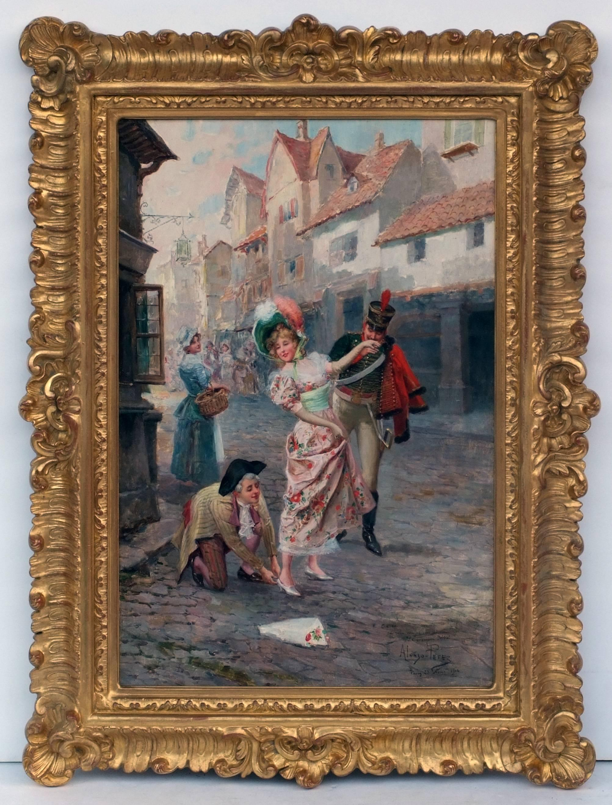 Alonso PEREZ - Painting Genre Scene in Paris