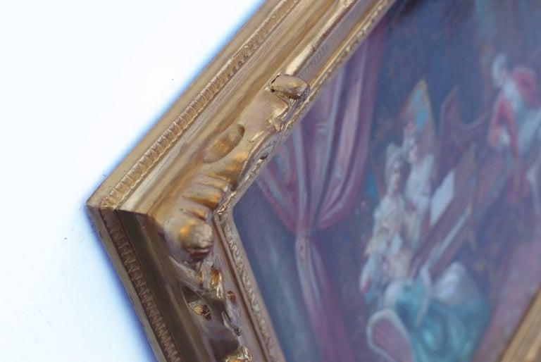 SEDLACEK Stephan Auguste - Genre painting - Piano Playing Interior 18th Century - Academic Painting by Stephan Auguste Sedlacek