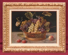 MARIS Emmanuel - Painting 19th century - Still Life with Grapes and Bees