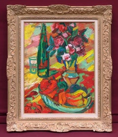 Roger LIMOUSE - Fauvist painting - Sweet peppers still life