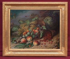 Albert DEVOS - Painting 19th century - Still life with fruits