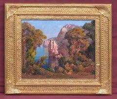 Eugene DESHAYES (1868-1939) - Landscape from Algerian Coast