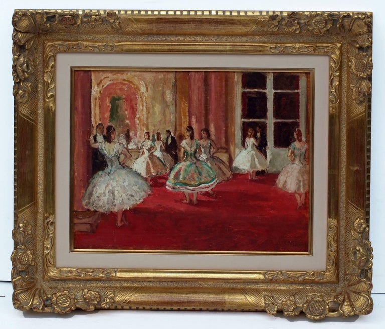 Marcel COSSON (1878-1956) Painting Post-impressionist Opera Ballerinas in pair 3