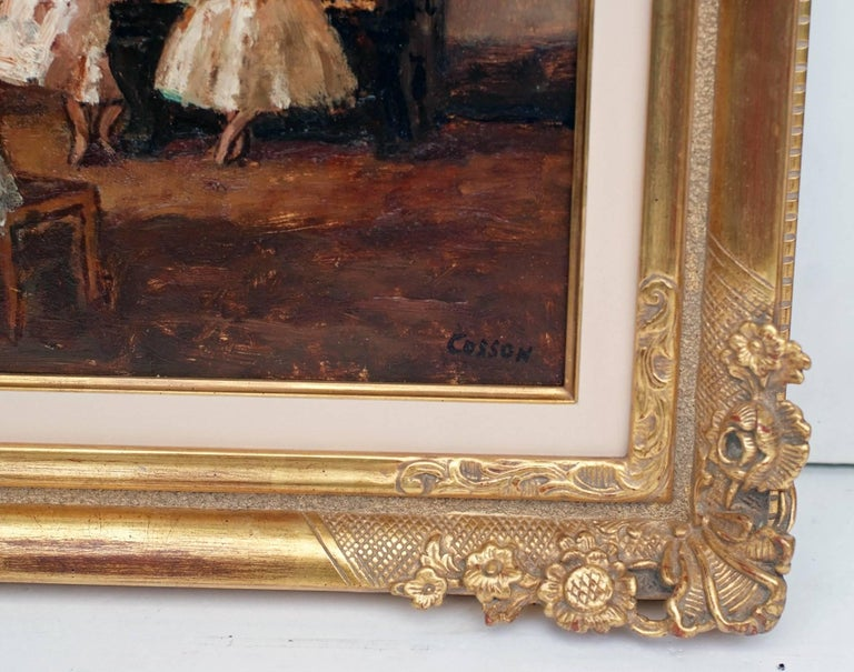 Marcel COSSON (1878-1956) Painting Post-impressionist Opera Ballerinas in pair For Sale 5