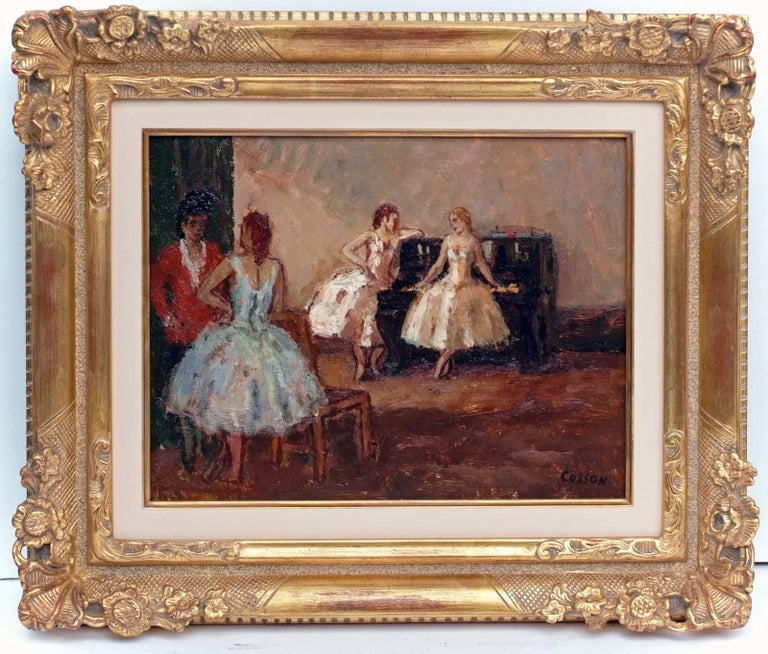 Marcel COSSON (1878-1956) Painting Post-impressionist Opera Ballerinas in pair For Sale 6