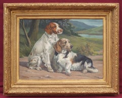 Jacques CARTIER - Painting Pointers Hunting Dogs