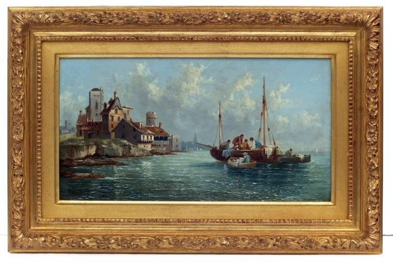 Painting 19th century - Marines in pair For Sale 2