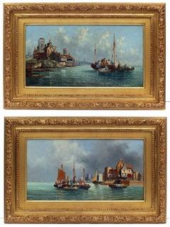 Painting 19th century - Marines in pair